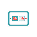 Document files icon on tablet laptop vector illustration Royalty Free Stock Photo