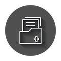 Document flat vector icon. Archive data file symbol logo illustr