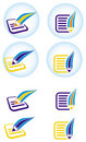 Document icon Stock Photos