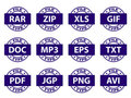 Document icon stamps Stock Photography