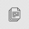 Document icon vector illustration. Paper sheet simple pictogram