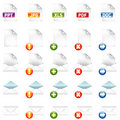 Document Icons Stock Image