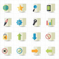 Document icons this image is a illustration Royalty Free Stock Photo