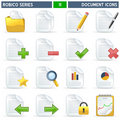 Document Icons - Robico Series Stock Images
