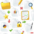 Document icons seamless pattern a with colorful and file on white background eps file available Royalty Free Stock Photos