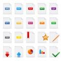 Document icons set Stock Image