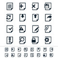 Document icons simple clear and sharp easy to resize no transparency effect eps file Stock Photography