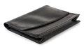 Document pouch leather black documents isolated on white Stock Photos