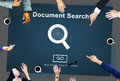Document Search Finding Forms Inspect Letters Concept Royalty Free Stock Photo