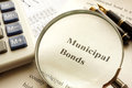 Document with title municipal bond. Royalty Free Stock Photo