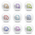 Document web colour icons set 2, circle buttons Royalty Free Stock Photo