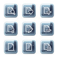 Document web icons Royalty Free Stock Image