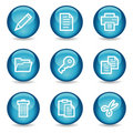 Document web icons, blue glossy sphere series Royalty Free Stock Photo