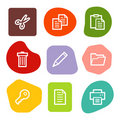 Document web icons, colour spots series Royalty Free Stock Image