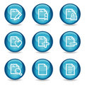 Document web icons, glossy sphere series set 2 Royalty Free Stock Photo