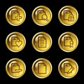 Document web icons set 2 Royalty Free Stock Image