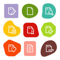 Document web icons set 2, colour spots series Royalty Free Stock Photo
