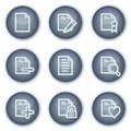 Document web icons set 2, mineral circle buttons Royalty Free Stock Images