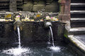 Documentary editorial image. Holy Spring Water Tirta Empul Hindu Temple , Bali Indonesia Royalty Free Stock Photo