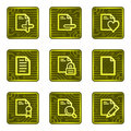 Documents 2 web icons, electronics card series Royalty Free Stock Photo
