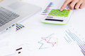Documents and calculator Royalty Free Stock Photo