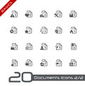 Documents Icons - Set 2 of 2 // Basics Royalty Free Stock Photos