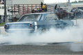 Drag car burnout Royalty Free Stock Photo
