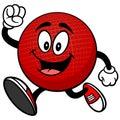 Dodgeball Mascot Running