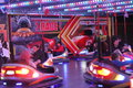 Dodgems fast paced crashes and bumps at the ilkeston charter fair in derbyshire Stock Images