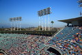 Dodger stadium decks los angeles dodgers upper loaded with baseball fans at in Stock Photography