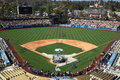 Dodger stadium los angeles dodgers on a sunny day in before a baseball game Stock Images
