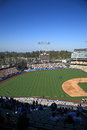 Dodger stadium outfield scoreboard sunny day los angeles baseball game Stock Photo