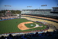 Dodger stadium sunny day los angeles baseball game Royalty Free Stock Photography