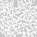 Dog a background made of dogs vector illustration Stock Photos