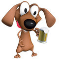 Dog beer mug Royalty Free Stock Images