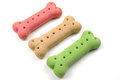 Dog biscuits in a row Royalty Free Stock Photo