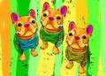 Dog breed cute pet animal bulldog french vector