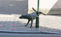 The dog brussels belgium june city boasts numerous sculptures with pissing idea zinneke pissing is one of them located on Stock Photo