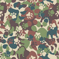 Dog camouflage pattern Stock Photos