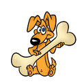 Dog cartoon character illustration Royalty Free Stock Photos