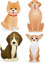 Dog cartoon collection Stock Images