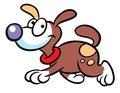 Dog cartoon illustration Stock Photography