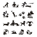 Dog and cat icons set authors illustration in vector Royalty Free Stock Images