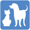 Dog and Cat logo Royalty Free Stock Photography