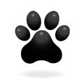 Paw print icon vector illustration isolated on white background