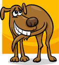 Dog chasing tail cartoon illustration of funny his Stock Photo