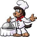 Dog Chef Presenting His Dish Royalty Free Stock Images