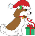 Dog Christmas Present Royalty Free Stock Photo
