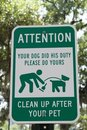 Dog Clean-Up Sign Royalty Free Stock Photo