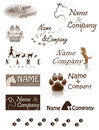 Dog company logo set for services Royalty Free Stock Image